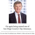 Michael Kirby Named One of San Diego County's Top Attorneys 2017